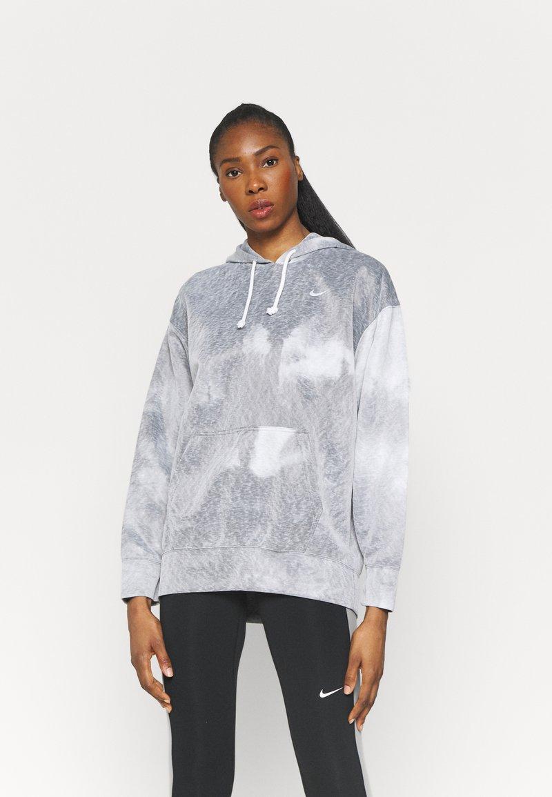 Nike Performance - HOODIE - Langærmede T-shirts - black/white