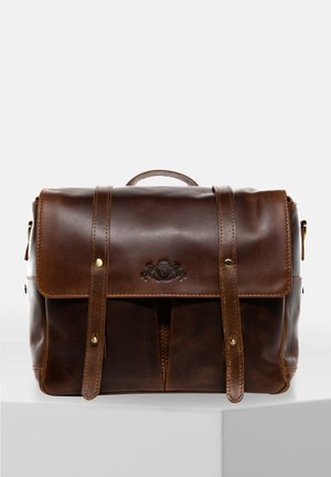Briefcase - braun-cognac