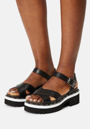 SUMMER  - Platform sandals - black