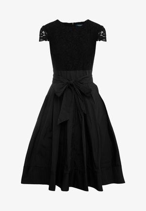 MEMORY TAFFETA COCKTAIL DRESS - Cocktailkjoler / festkjoler - black
