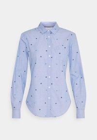 Springfield - CAMISA FILAFIL BORDAD - Button-down blouse - light blue - 0