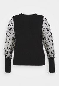 Simply Be - PLEAT SLEEVE JUMPER WITH STARS - Svetr - black - 0