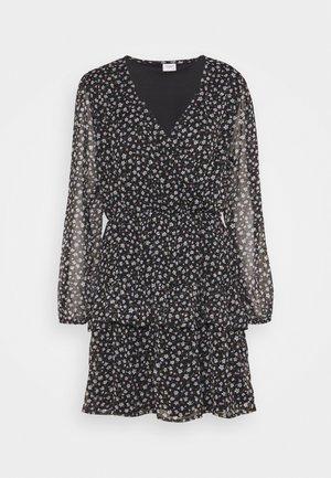 JDYPENELOPE DRESS - Day dress - black/grey