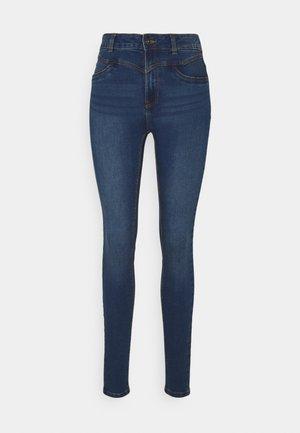 NMCALLIE WESTERN - Skinny džíny - medium blue denim