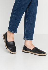 Anna Field - LEATHER - Espadrilles - black - 0