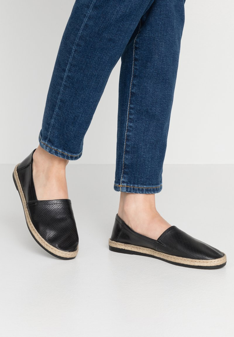 Anna Field - LEATHER - Espadrilles - black