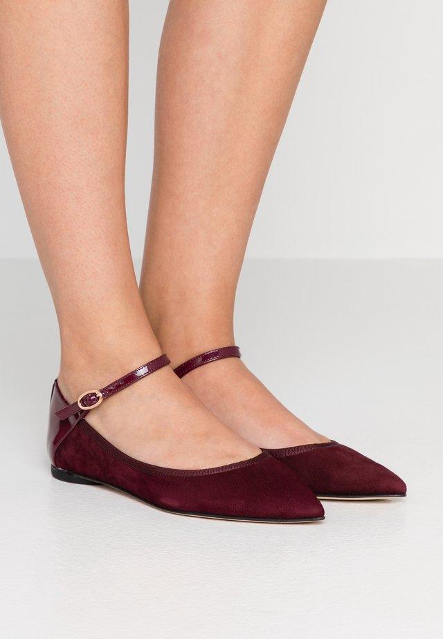 CLEMENCE - Ankle strap ballet pumps - carmen