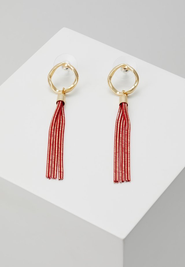 CHARLIZE SMALL TASSEL EAR - Earrings - red