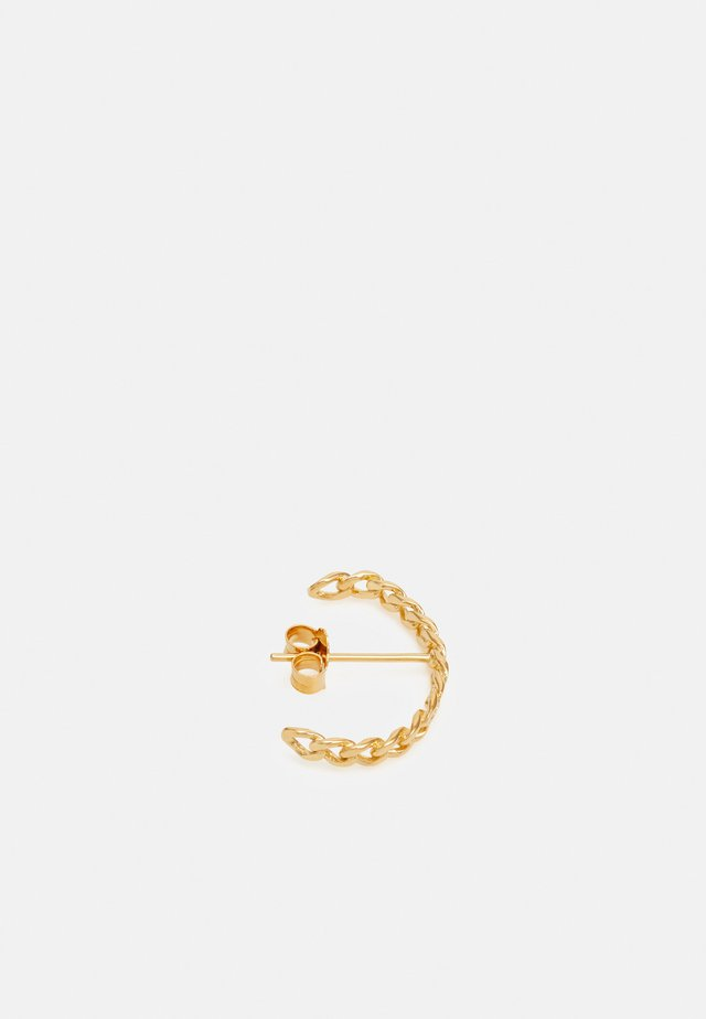 ELSA HALF HOOP SMALL CHAIN - Oorbellen - gold-coloured