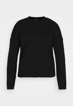 FUNNEL NECK JUMPER - Jersey de punto - black