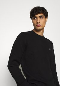 Tommy Hilfiger Tailored - DRIVING CREW NECK - Jumper - black - 3