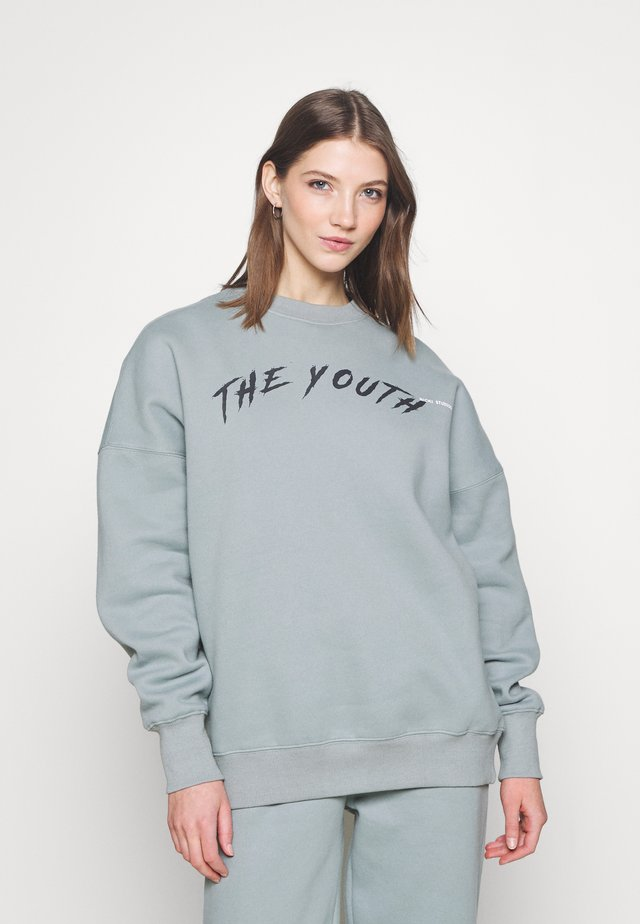 YOUTH COLLAGE CREWNECK - Sweatshirt - stone green