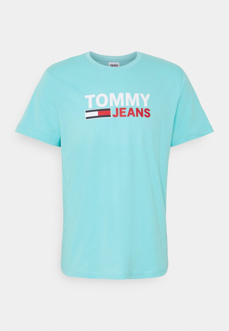 Tommy Jeans - CORP LOGO TEE - T-shirt con stampa - blue