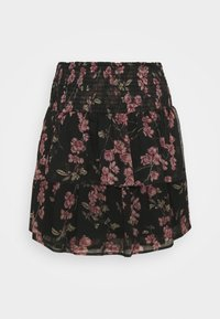 VMWONDA SMOCK SHORT SKIRT - A-line skirt - black