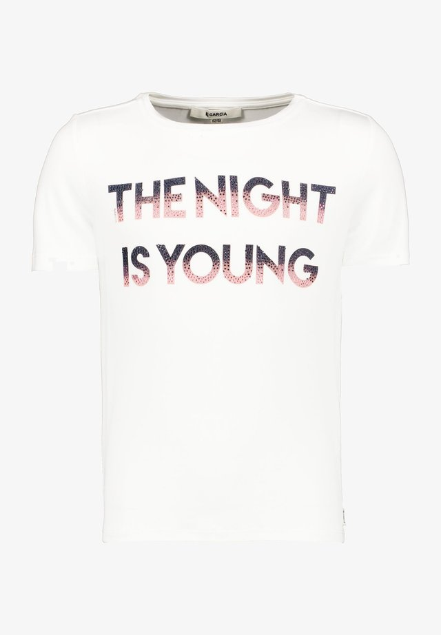 T-shirt print - off white