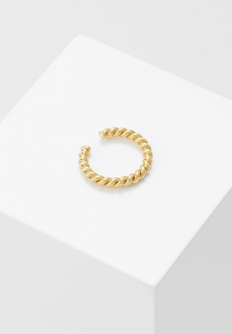 Orelia - ROPE TWIST SINGLE EAR CUFF - Earrings - pale gold-coloured