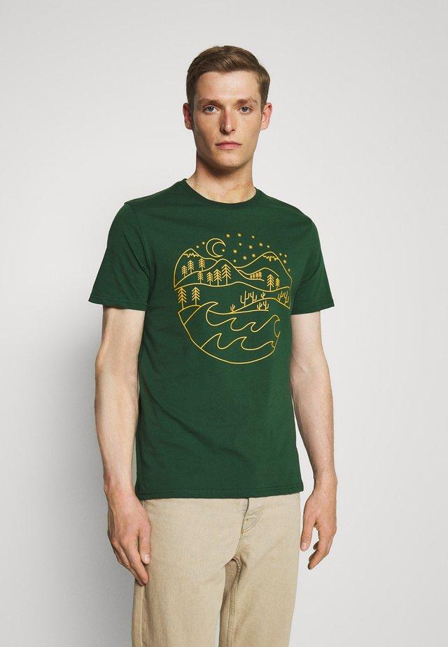 Print T-shirt - dark green