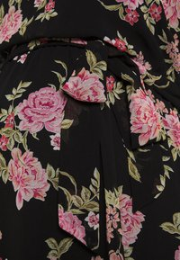 Dorothy Perkins Maternity - FLORAL FIT & FLARE - Jersey dress - black/rose - 2