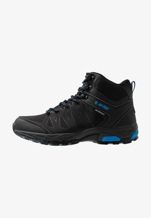 RAVEN MID WP - Hiking shoes - black/blue