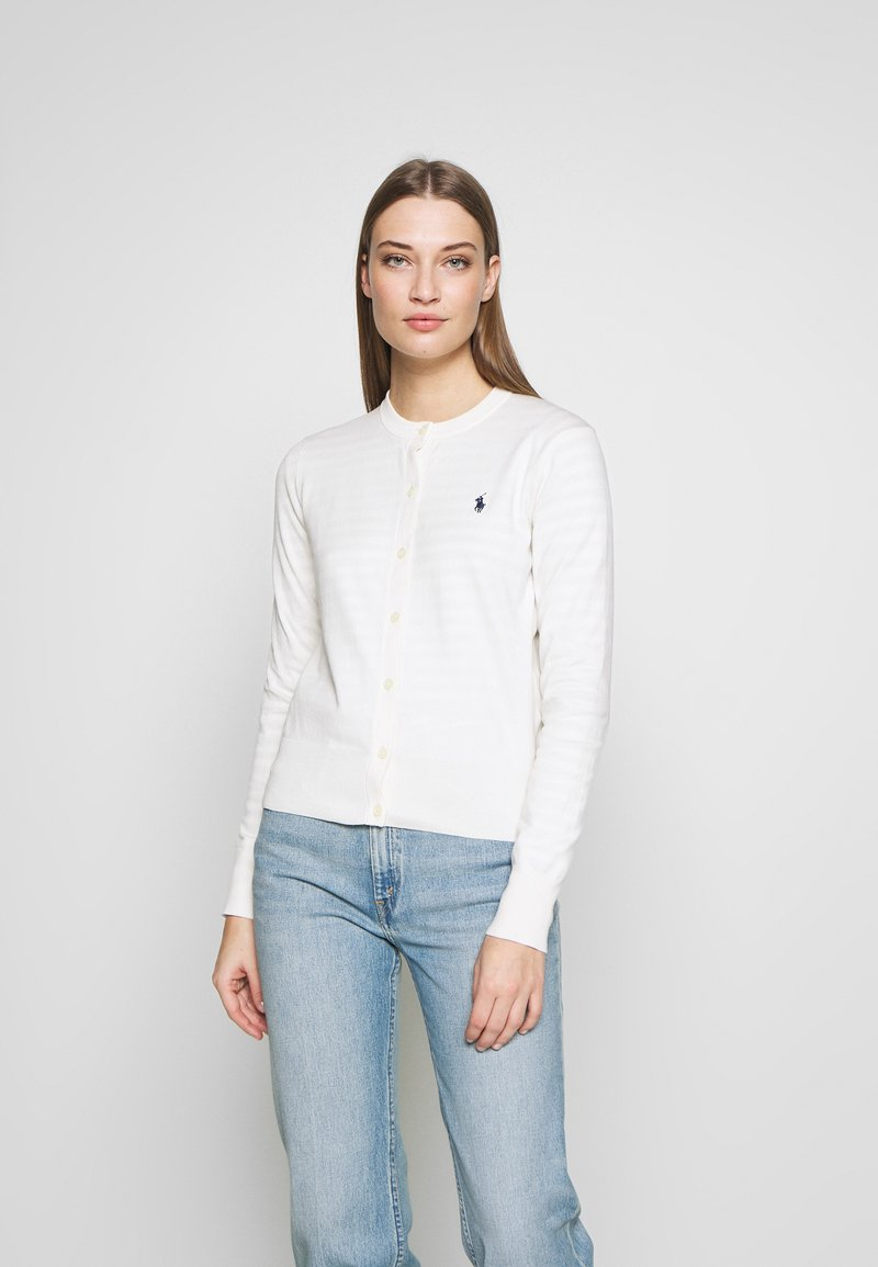 Polo Ralph Lauren - CARDIGAN LONG SLEEVE - Chaqueta de punto - collection cream