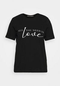 Anna Field - T-shirt imprimé - black - 3