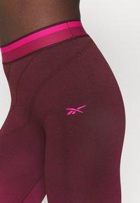 Reebok - SEAMLESS - Collants - maroon/pursuit pink - 5