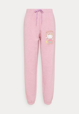 HELLO  LOGO JOGGERS - Tracksuit bottoms - pink