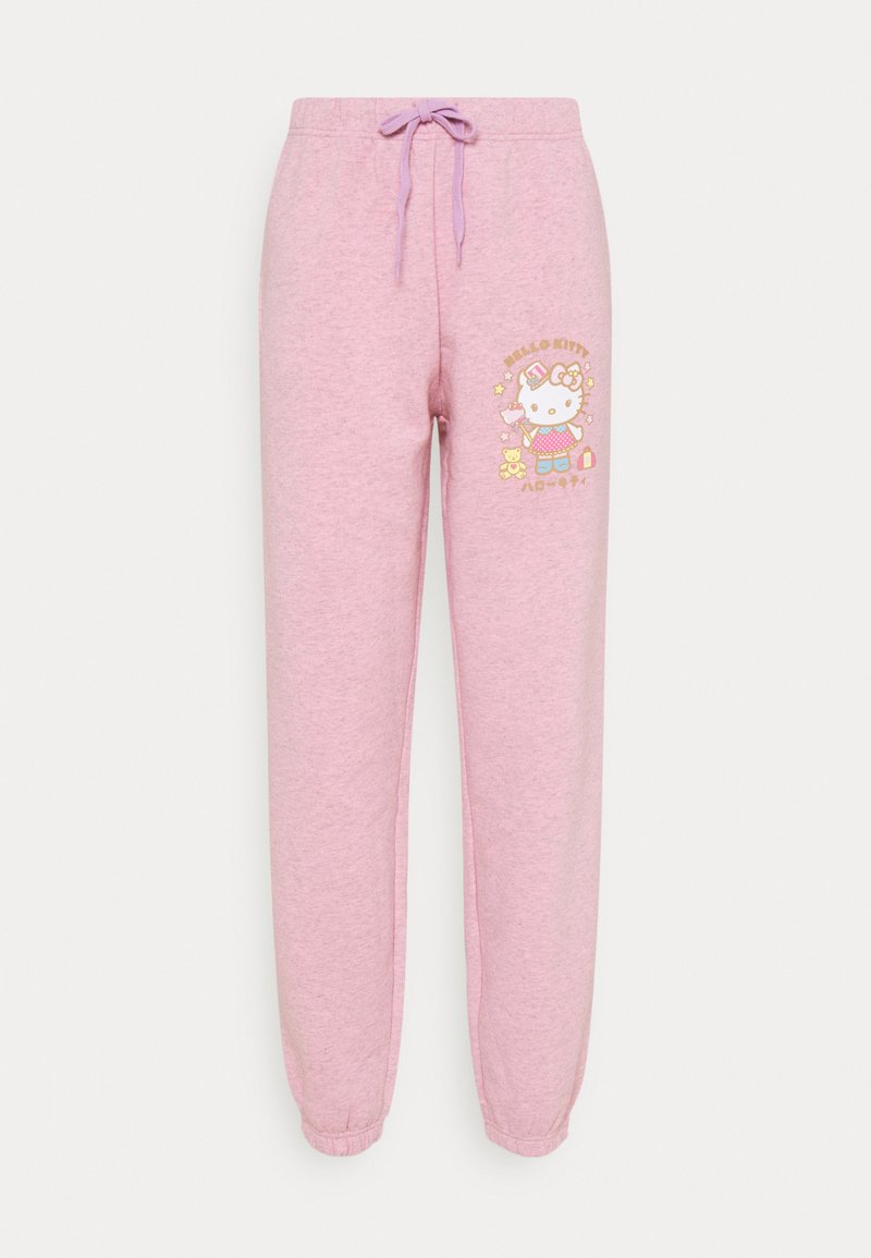 NEW girl ORDER - HELLO  LOGO JOGGERS - Tracksuit bottoms - pink