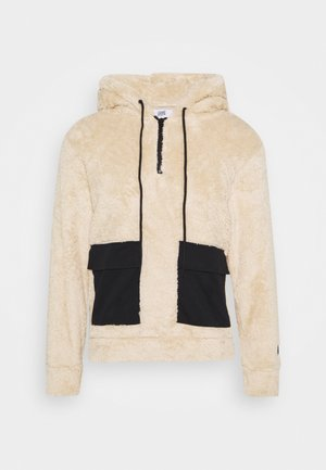 FLUFFY HOODIE WITH POCKET - Jersey con capucha - beige