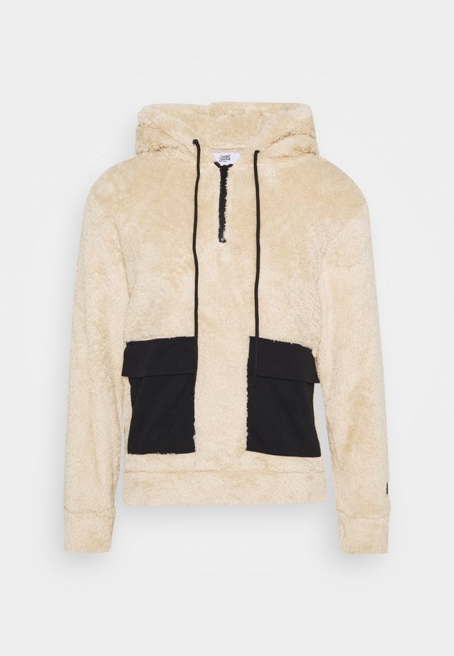 FLUFFY HOODIE WITH POCKET - Huppari - beige