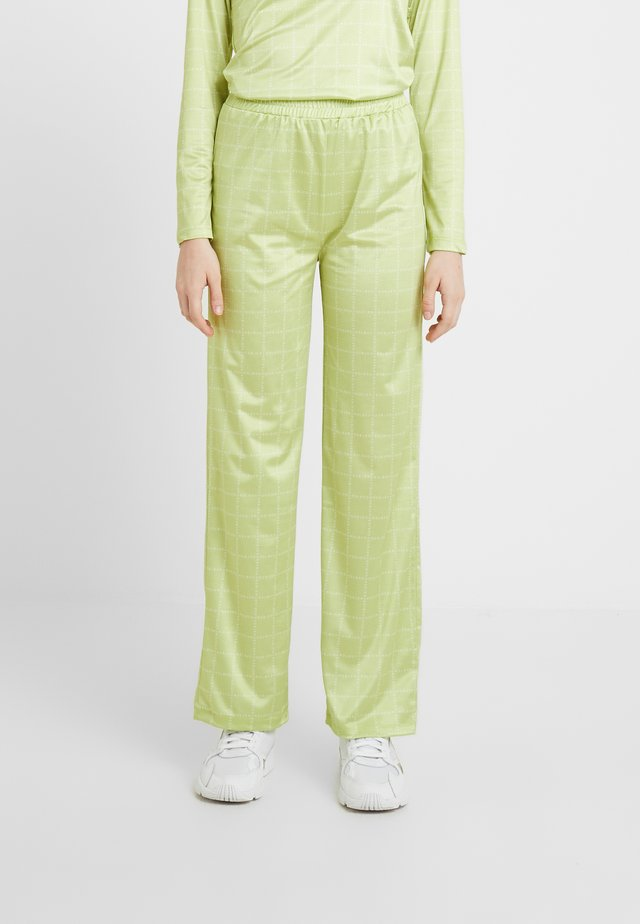 NORA LOGO PANTS - Trousers - lime green