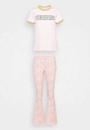 RINGER BED PANT SET - Pyjama - be kind pretty pink