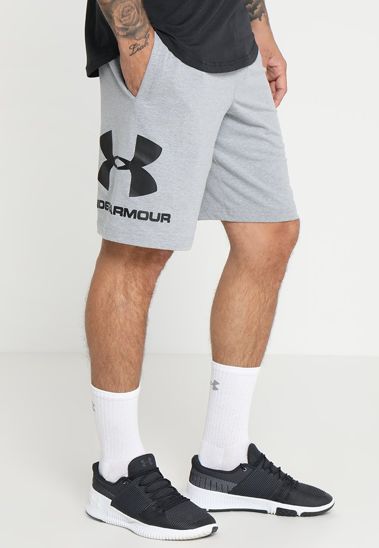 Under Armour - Korte broeken - steel light heather/black