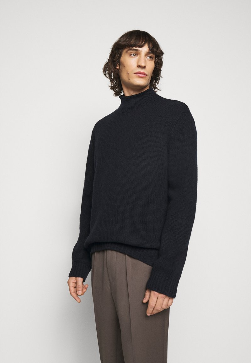 Filippa K - MIX TATE TURTLENECK  - Jumper - navy