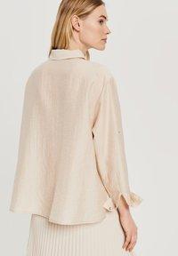 Opus - Button-down blouse - beige - 1