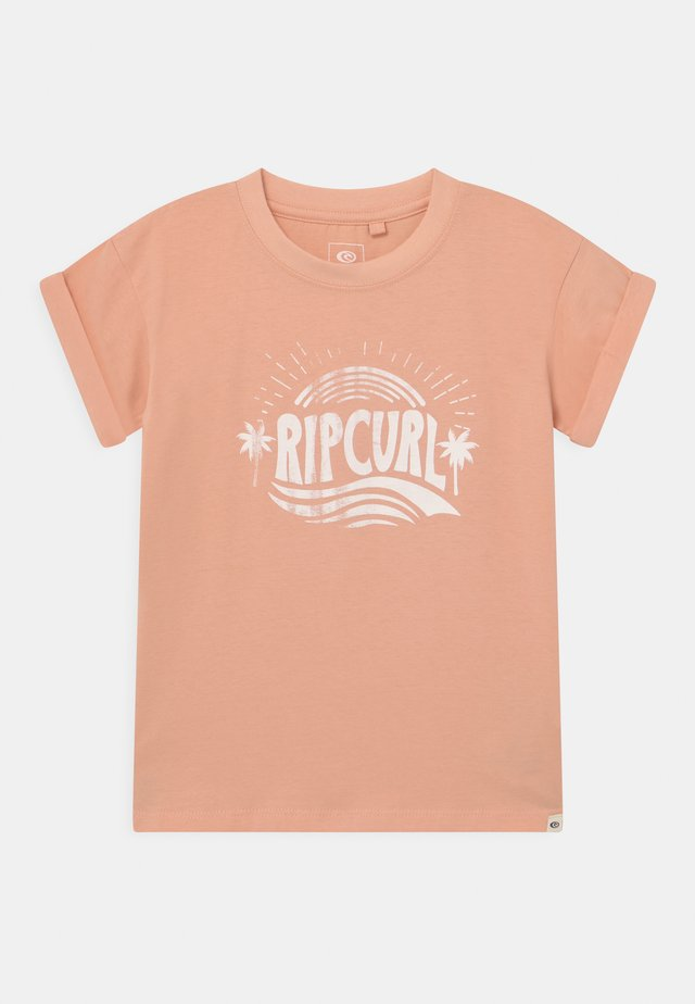 SUNNY DAY GIRL - T-shirts print - peach