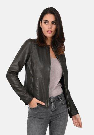 PRESTIGE - Leather jacket - khaki