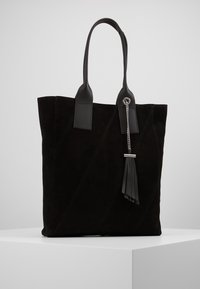 Even&Odd - LEATHER - Shopping bag - black - 0