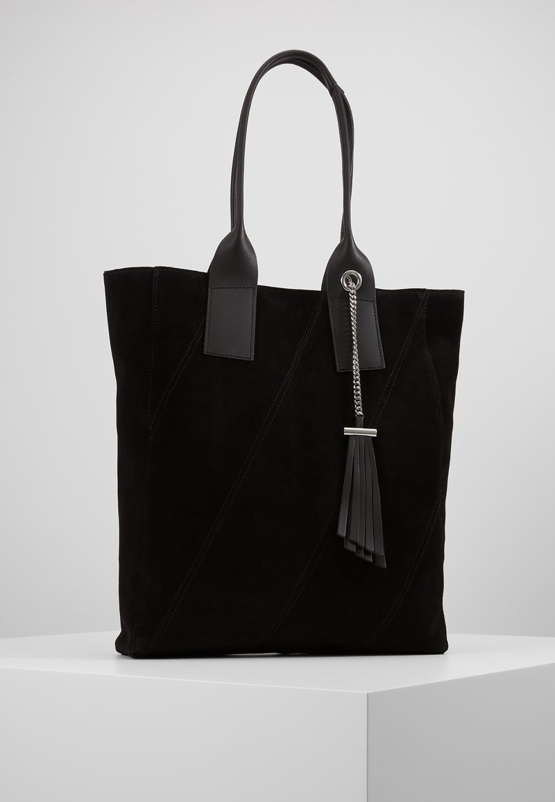 Even&Odd - LEATHER - Shopping bag - black