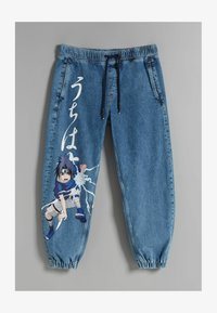 Bershka - NARUTO - Jeansy Relaxed Fit - blue denim - 4