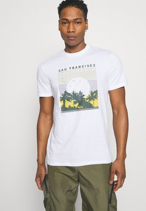 ONSANTHONY LIFE TEE - T-shirt med print - white/san francisco