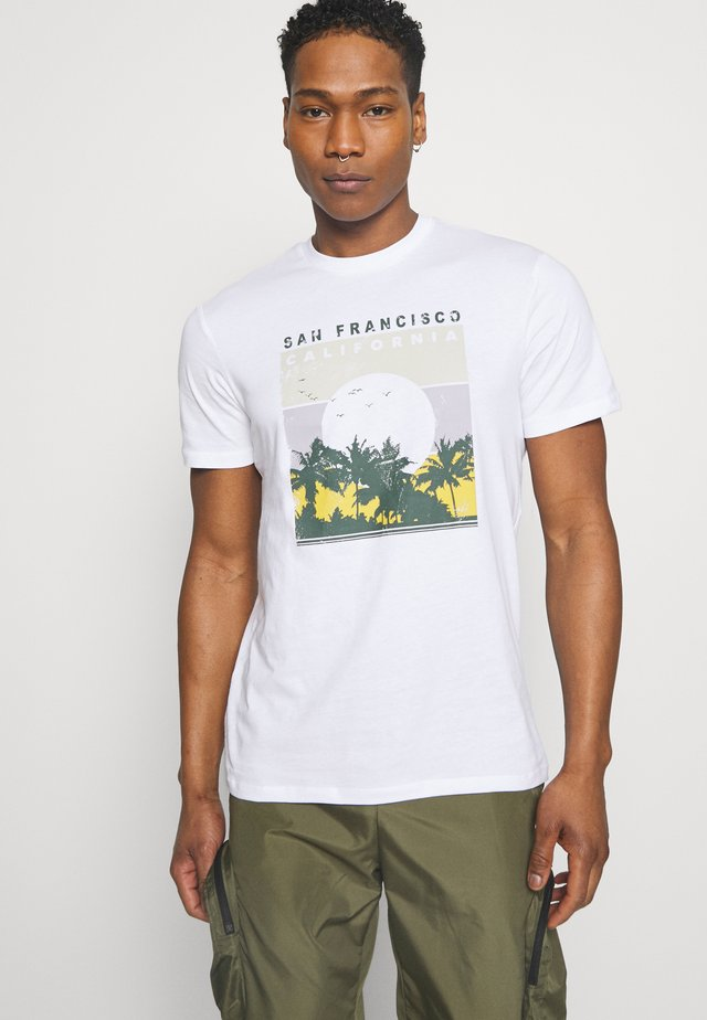 ONSANTHONY LIFE TEE - Print T-shirt - white/san francisco