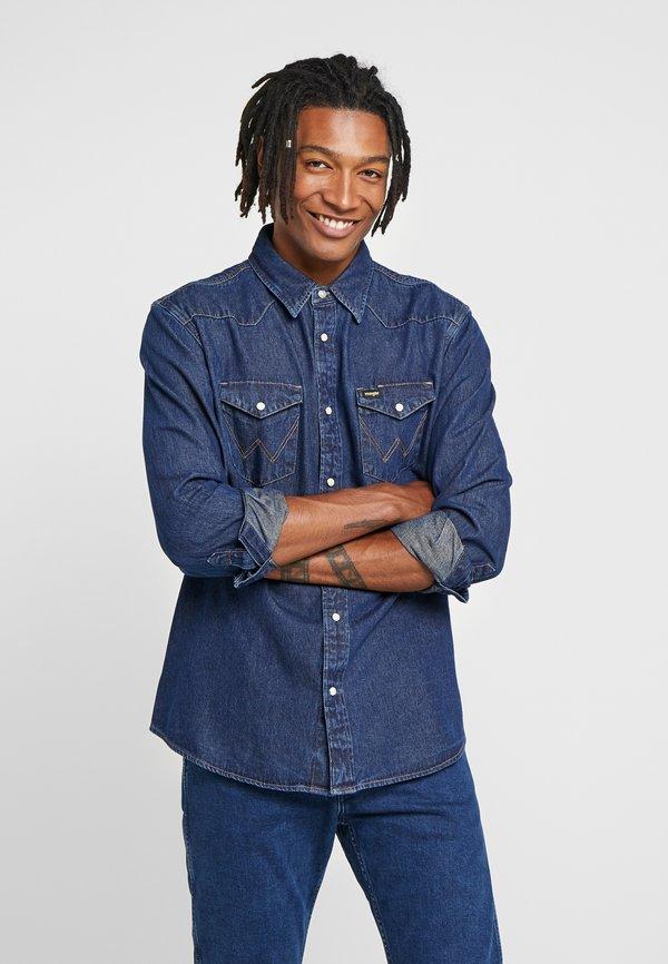 Wrangler Koszula - dark blue/granatowy Odzież Męska DJIW