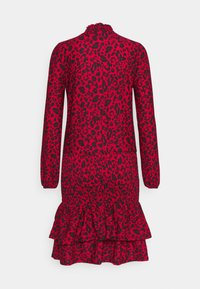 Dorothy Perkins - SHEERED MINI ANIMAL - Žerzejové šaty - red - 1