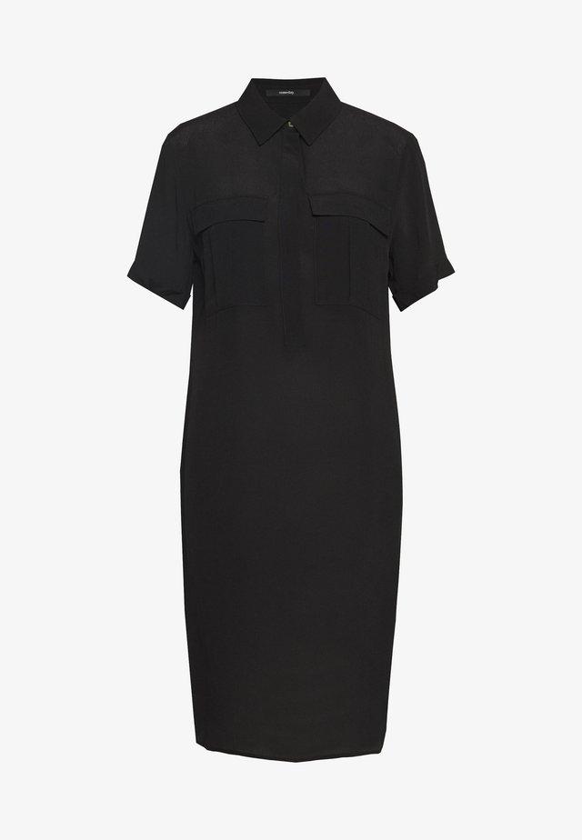 QUINTON - Shirt dress - black