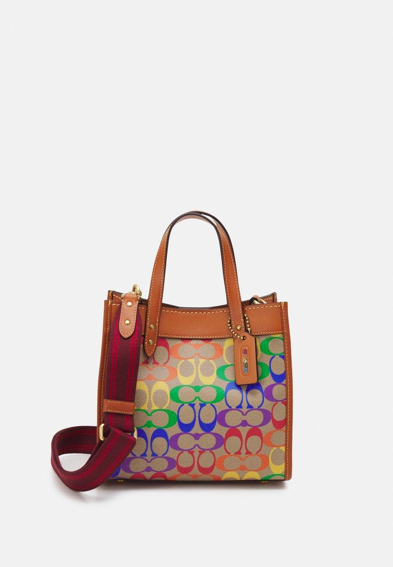 Coach - PRIDE SIGNATURE TOTE - Handbag - tan natural/multi