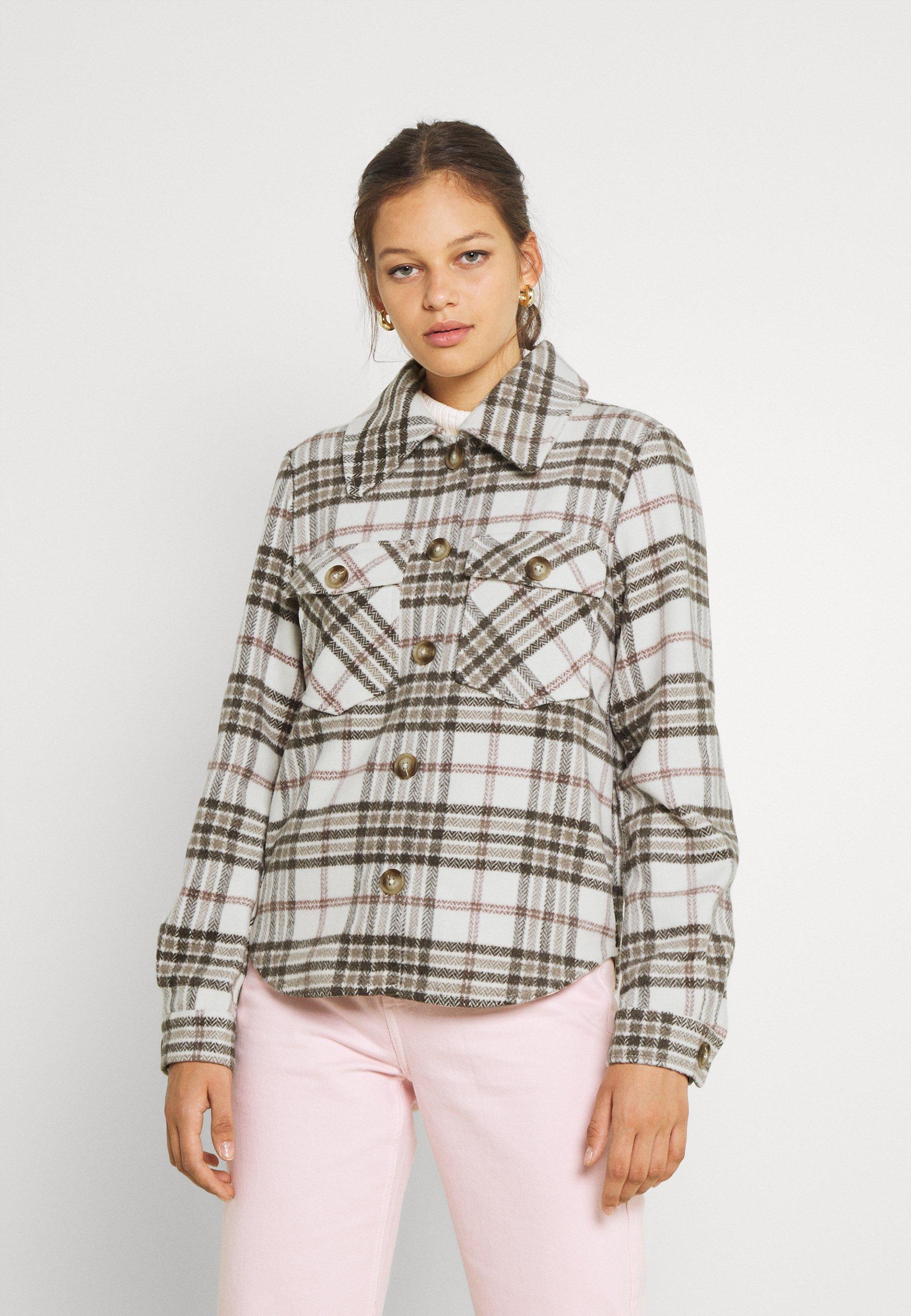 Women VIBIRA SHORT CHECK SHACKET - Summer jacket