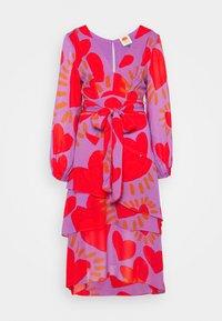 WILD HEARTS LAYERED MIDI DRESS - Vestido informal - multi