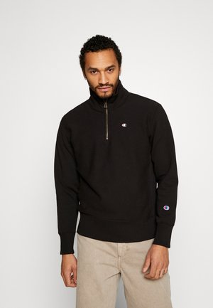 HALF ZIP - Felpa - black