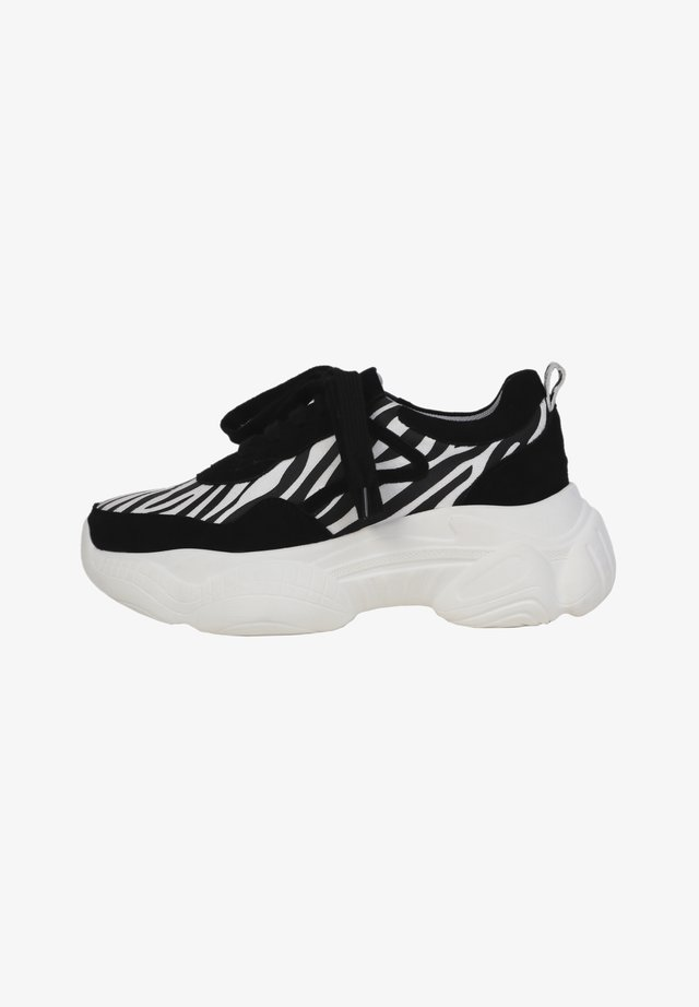 Baskets basses - black/ zebra